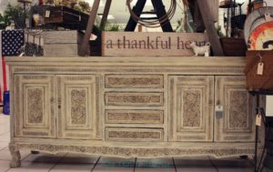 Restyled buffet with carving